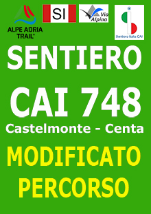 MODIFICA PERCORSO sentiero CAI 748